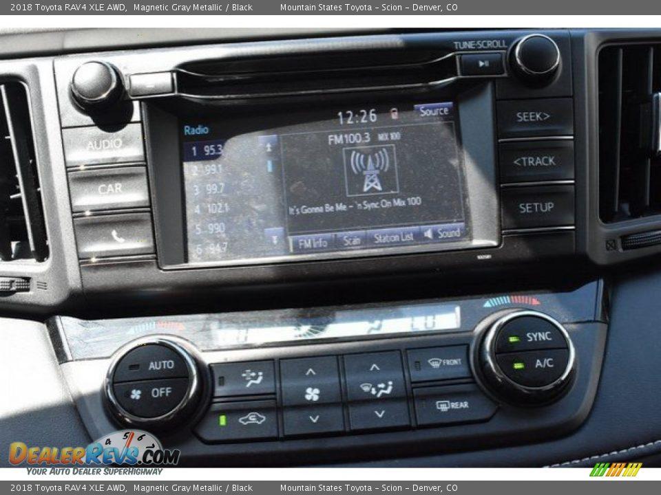 2018 Toyota RAV4 XLE AWD Magnetic Gray Metallic / Black Photo #11