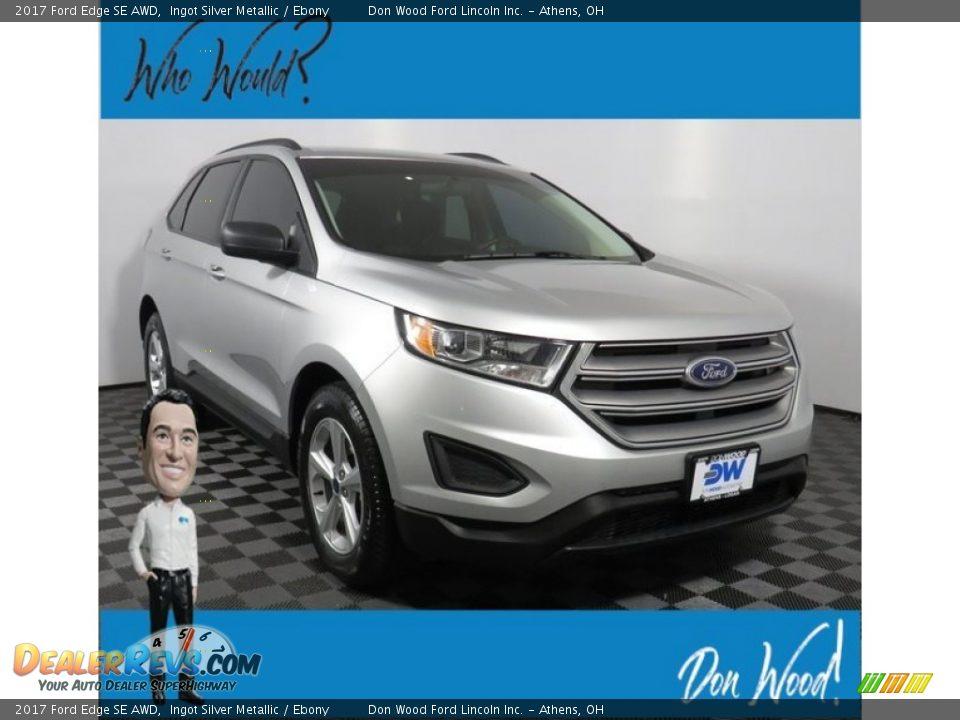 2017 Ford Edge SE AWD Ingot Silver Metallic / Ebony Photo #1
