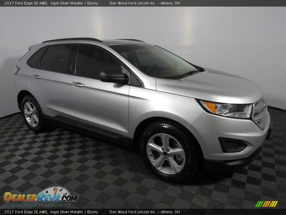 2017 Ford Edge SE AWD Ingot Silver Metallic / Ebony Photo #2