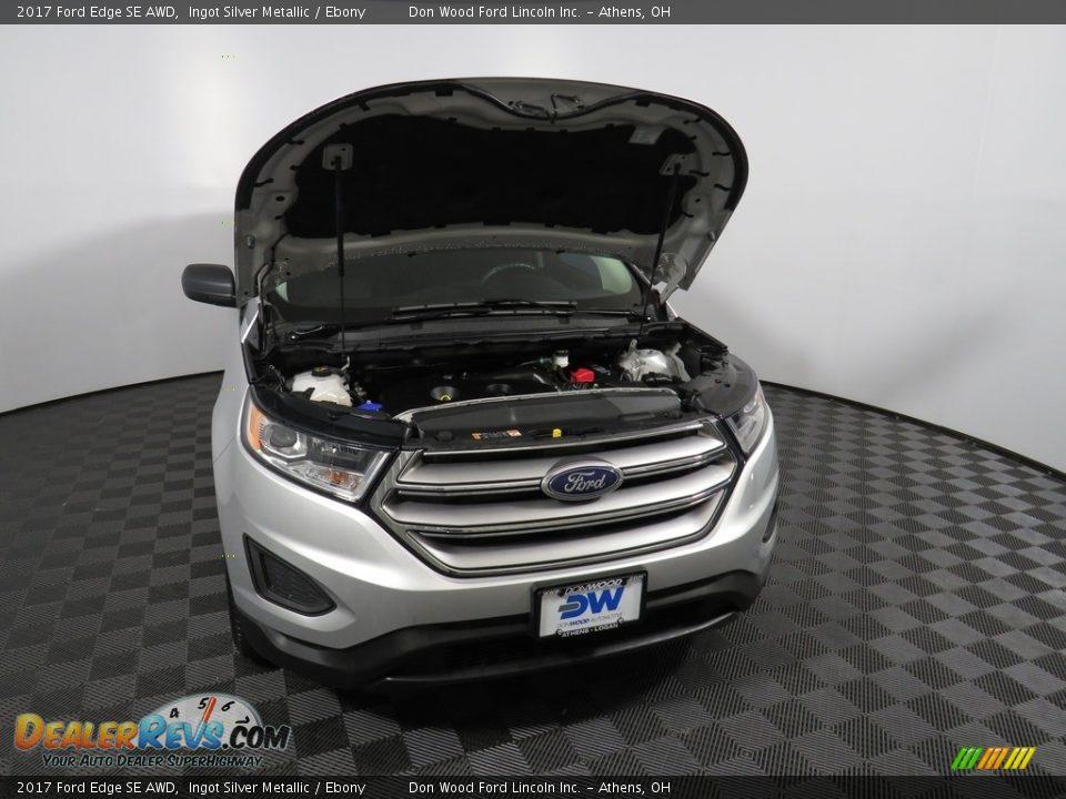 2017 Ford Edge SE AWD Ingot Silver Metallic / Ebony Photo #5