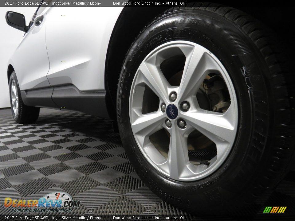 2017 Ford Edge SE AWD Ingot Silver Metallic / Ebony Photo #10
