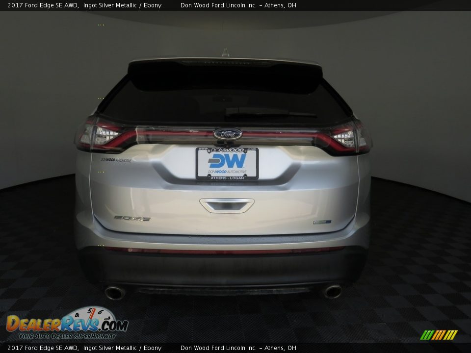 2017 Ford Edge SE AWD Ingot Silver Metallic / Ebony Photo #11