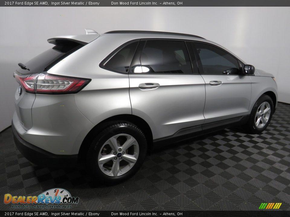 2017 Ford Edge SE AWD Ingot Silver Metallic / Ebony Photo #14