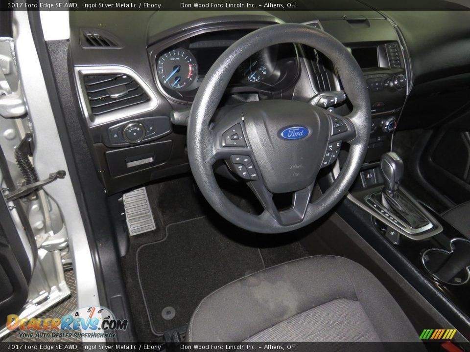 2017 Ford Edge SE AWD Ingot Silver Metallic / Ebony Photo #18