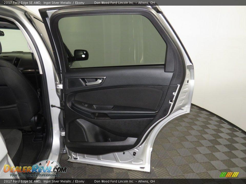 2017 Ford Edge SE AWD Ingot Silver Metallic / Ebony Photo #22