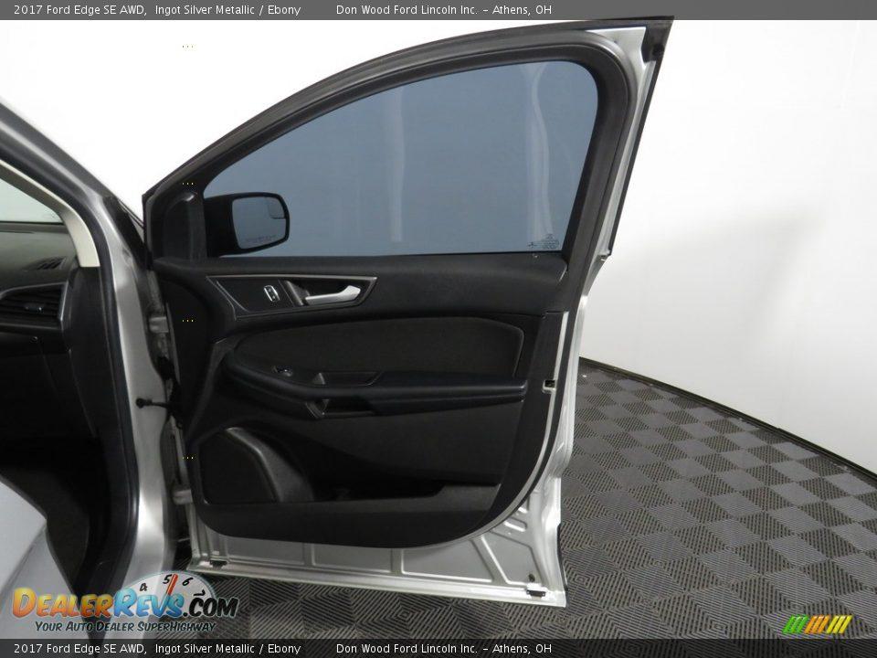 2017 Ford Edge SE AWD Ingot Silver Metallic / Ebony Photo #24