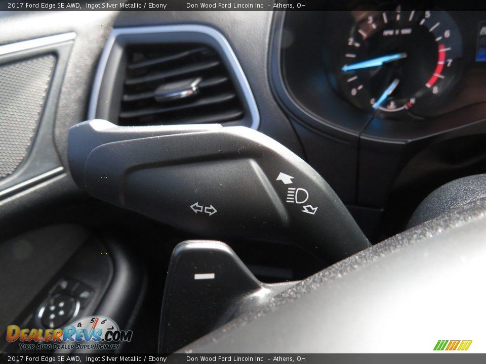2017 Ford Edge SE AWD Ingot Silver Metallic / Ebony Photo #29