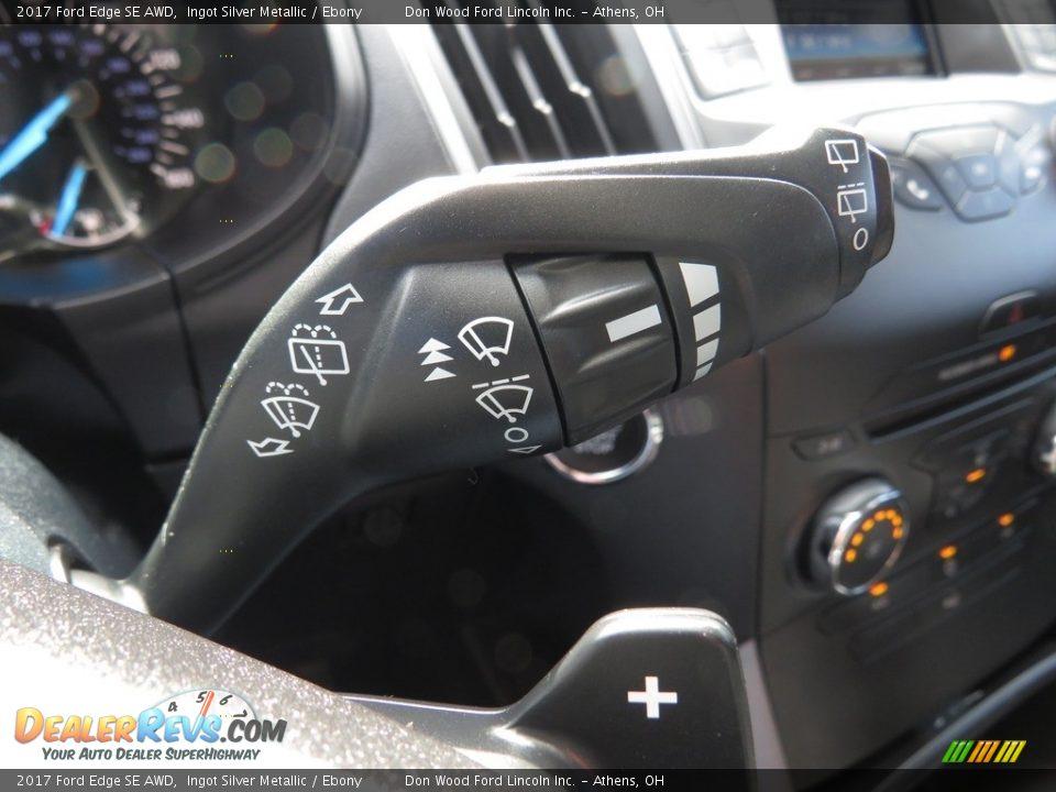 2017 Ford Edge SE AWD Ingot Silver Metallic / Ebony Photo #30