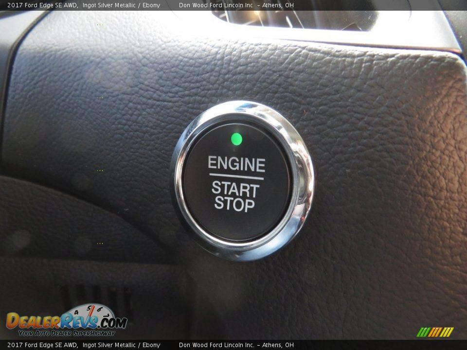 2017 Ford Edge SE AWD Ingot Silver Metallic / Ebony Photo #35