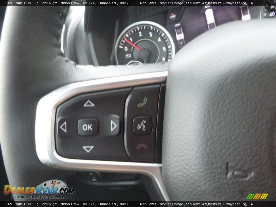 2020 Ram 1500 Big Horn Crew Cab 4x4 Steering Wheel Photo #20