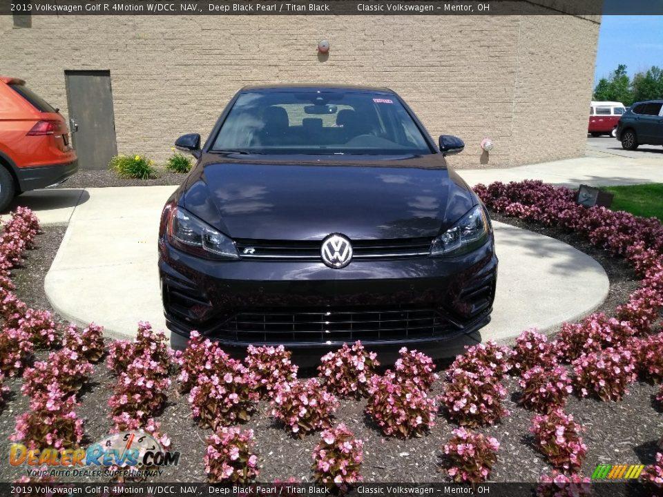 2019 Volkswagen Golf R 4Motion W/DCC. NAV. Deep Black Pearl / Titan Black Photo #2