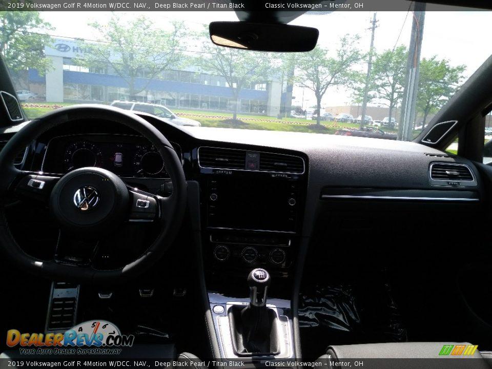 2019 Volkswagen Golf R 4Motion W/DCC. NAV. Deep Black Pearl / Titan Black Photo #4