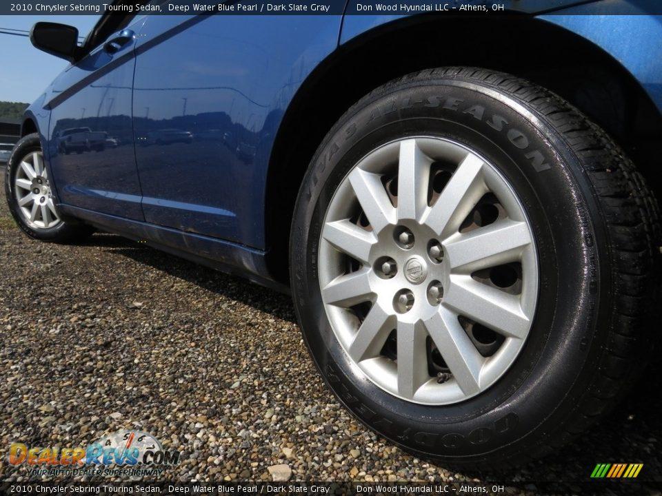 2010 Chrysler Sebring Touring Sedan Deep Water Blue Pearl / Dark Slate Gray Photo #10