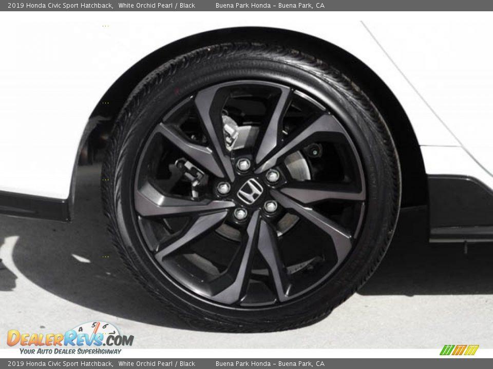 2019 Honda Civic Sport Hatchback White Orchid Pearl / Black Photo #11