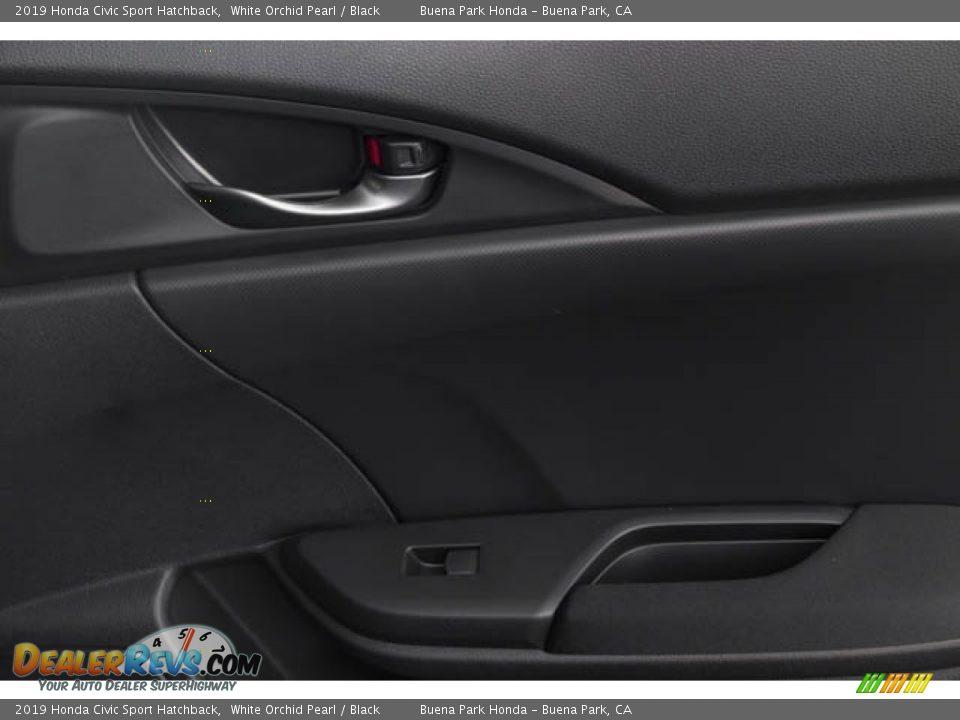 2019 Honda Civic Sport Hatchback White Orchid Pearl / Black Photo #36