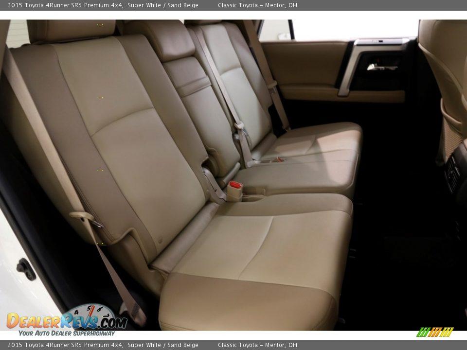 2015 Toyota 4Runner SR5 Premium 4x4 Super White / Sand Beige Photo #15