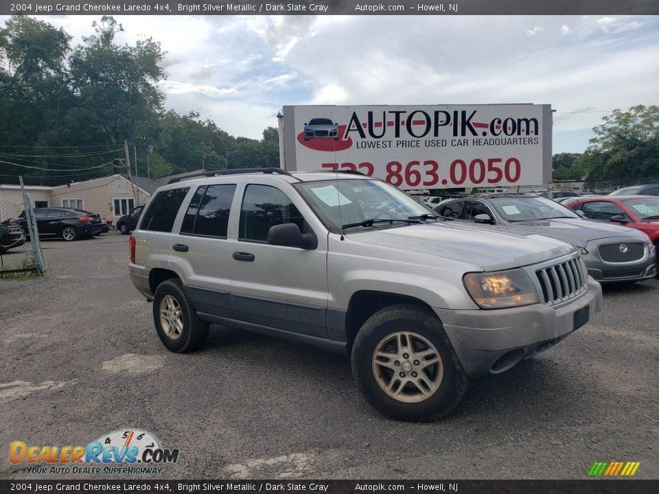 2004 Jeep Grand Cherokee Laredo 4x4 Bright Silver Metallic / Dark Slate Gray Photo #1
