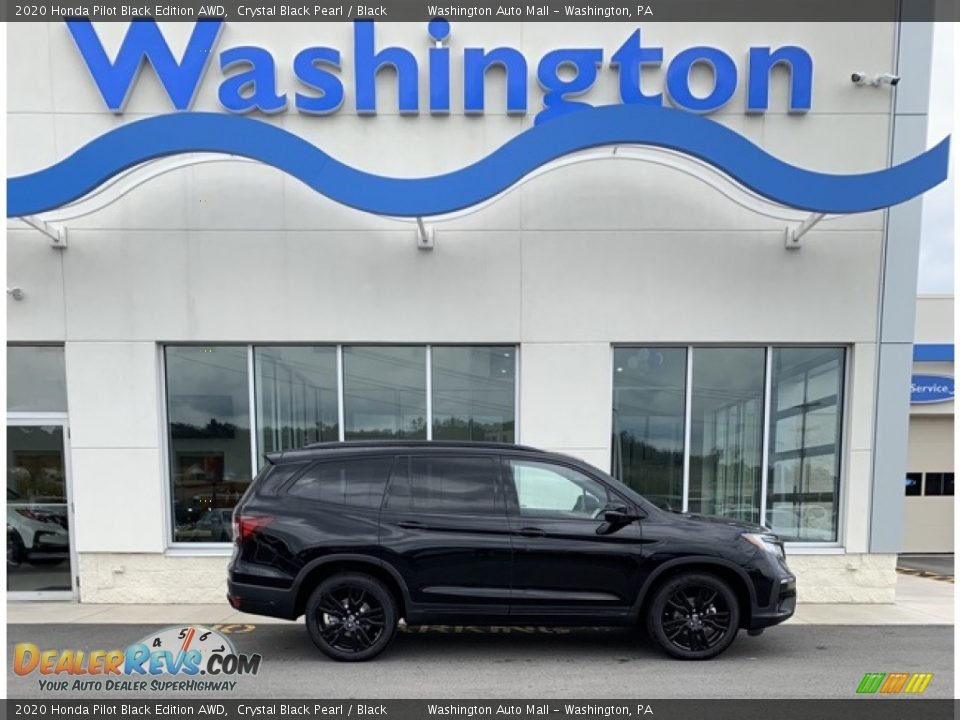 2020 Honda Pilot Black Edition AWD Crystal Black Pearl / Black Photo #1
