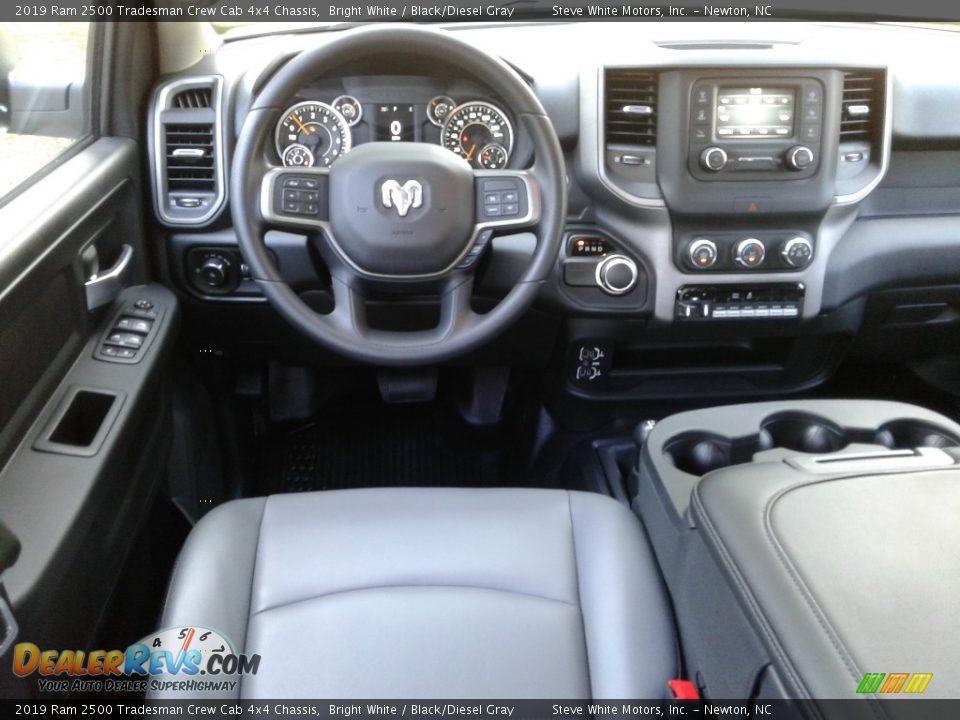 2019 Ram 2500 Tradesman Crew Cab 4x4 Chassis Bright White / Black/Diesel Gray Photo #22