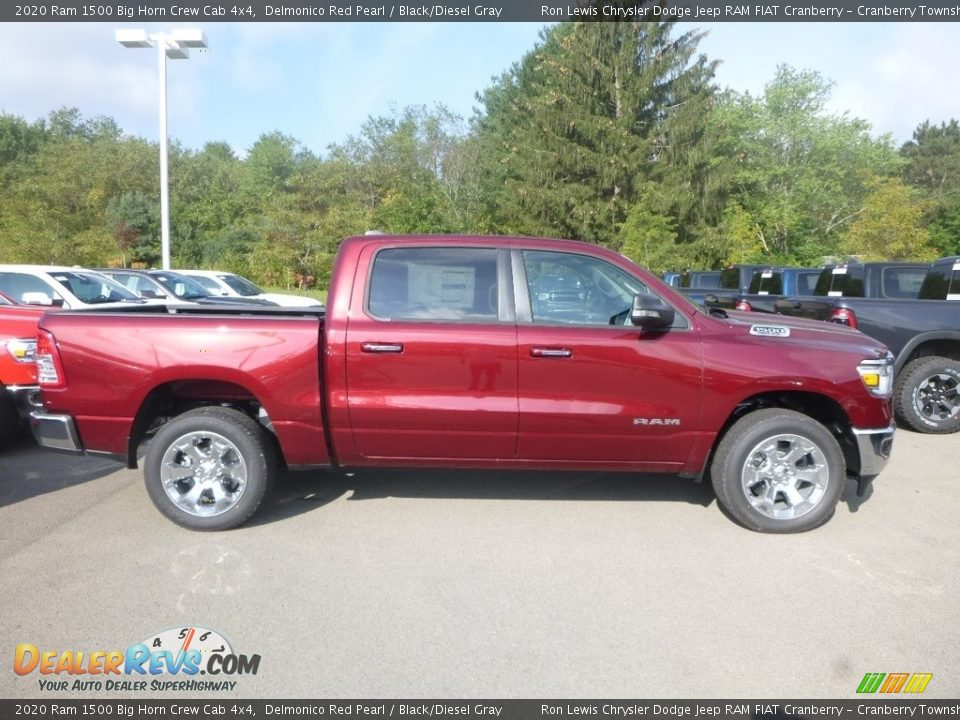 2020 Ram 1500 Big Horn Crew Cab 4x4 Delmonico Red Pearl / Black/Diesel Gray Photo #5