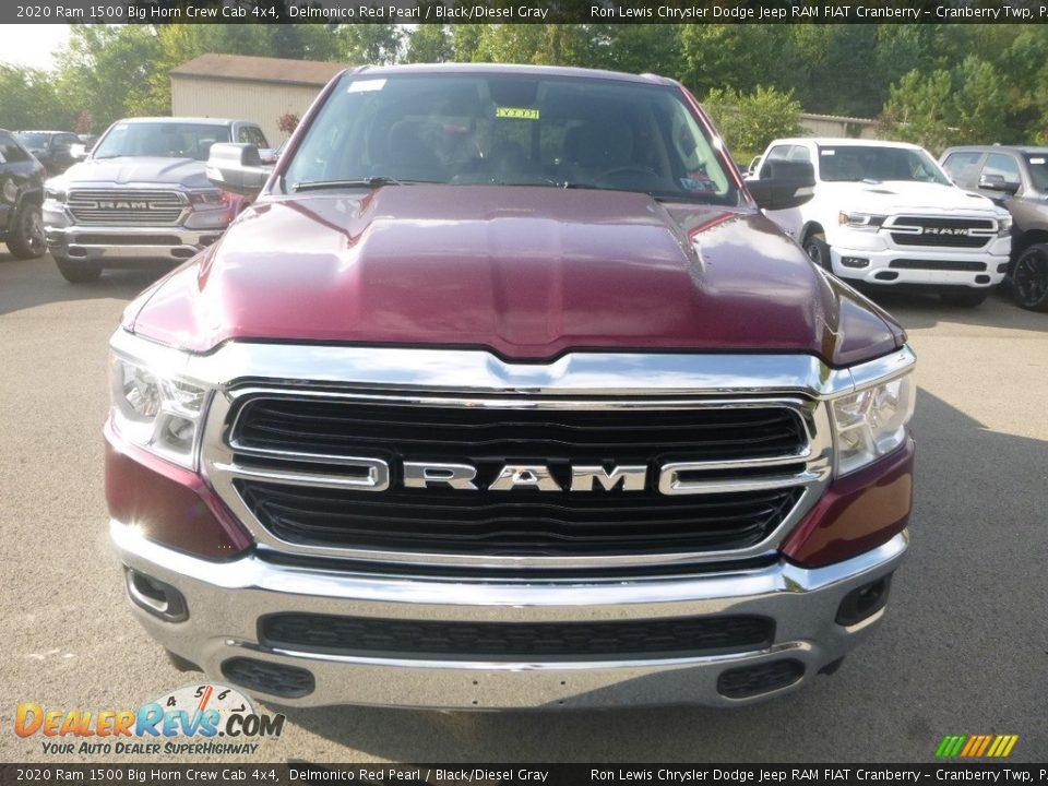 2020 Ram 1500 Big Horn Crew Cab 4x4 Delmonico Red Pearl / Black/Diesel Gray Photo #7