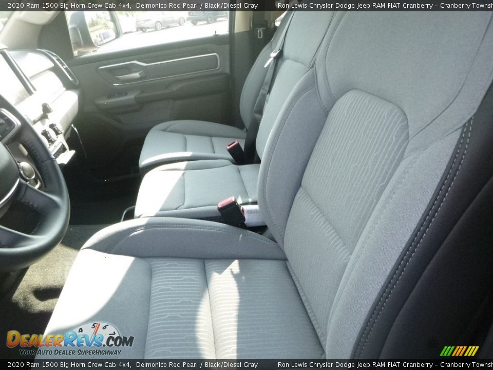 2020 Ram 1500 Big Horn Crew Cab 4x4 Delmonico Red Pearl / Black/Diesel Gray Photo #12