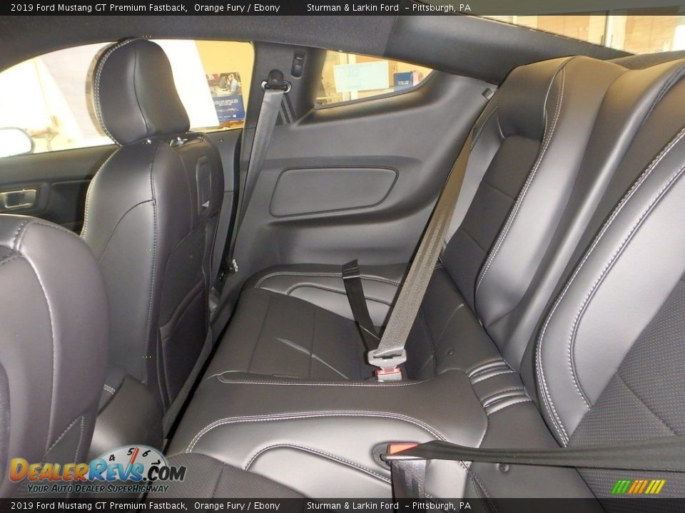 Rear Seat of 2019 Ford Mustang GT Premium Fastback Photo #8
