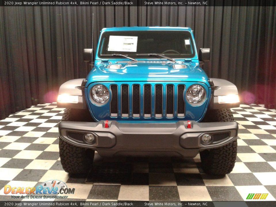 2020 Jeep Wrangler Unlimited Rubicon 4x4 Bikini Pearl / Dark Saddle/Black Photo #3