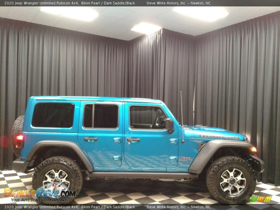 2020 Jeep Wrangler Unlimited Rubicon 4x4 Bikini Pearl / Dark Saddle/Black Photo #5