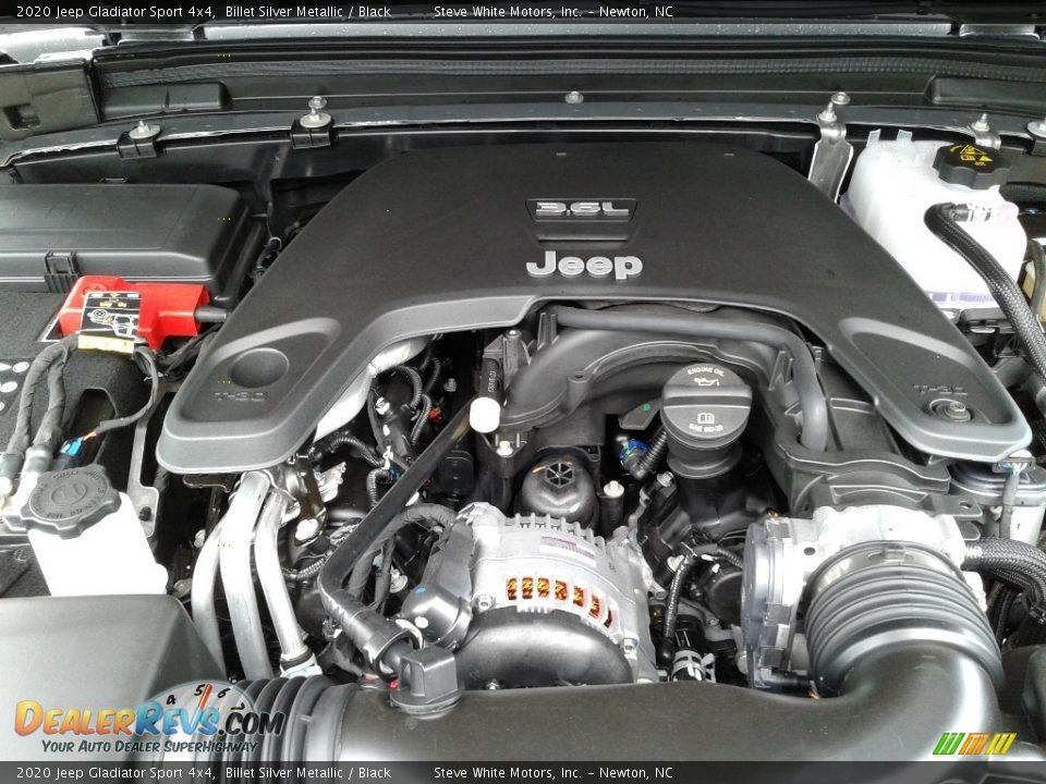 2020 Jeep Gladiator Sport 4x4 Billet Silver Metallic / Black Photo #26