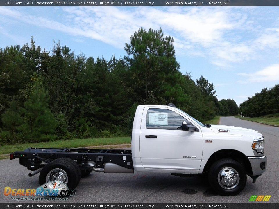 2019 Ram 3500 Tradesman Regular Cab 4x4 Chassis Bright White / Black/Diesel Gray Photo #5