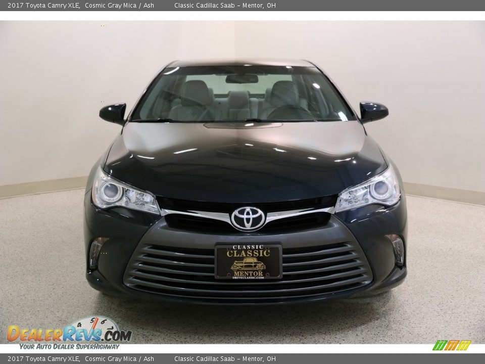2017 Toyota Camry XLE Cosmic Gray Mica / Ash Photo #2
