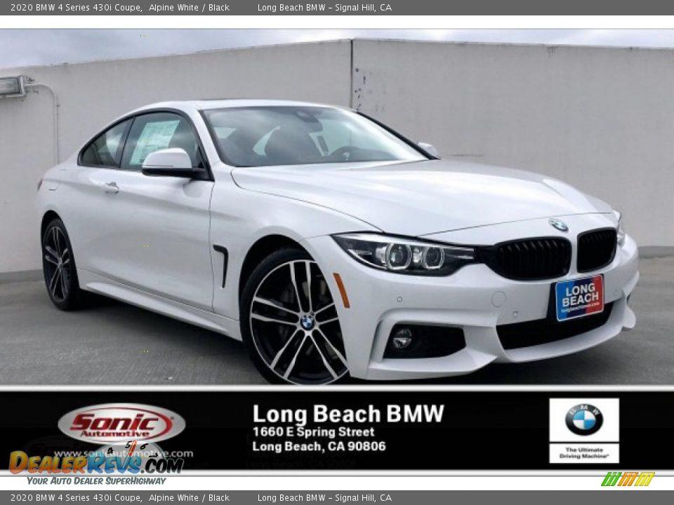 2020 BMW 4 Series 430i Coupe Alpine White / Black Photo #1