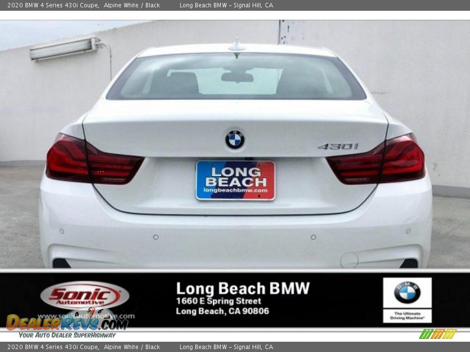 2020 BMW 4 Series 430i Coupe Alpine White / Black Photo #3