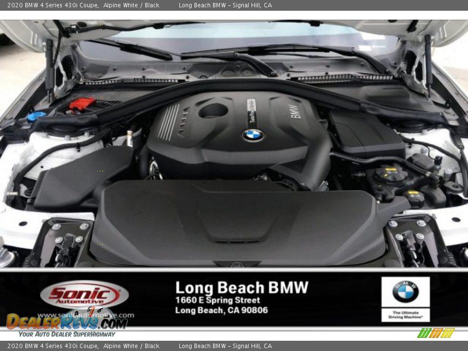 2020 BMW 4 Series 430i Coupe Alpine White / Black Photo #8