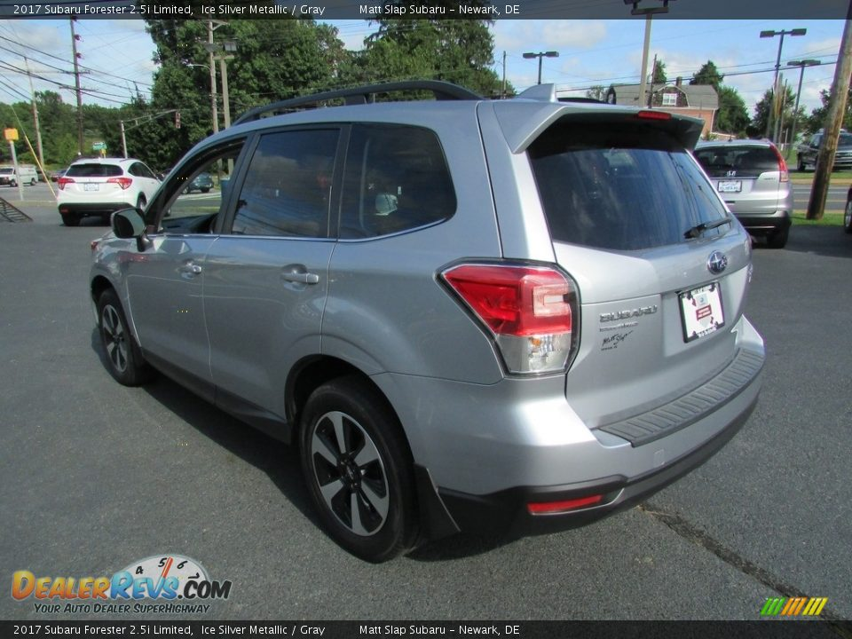 2017 Subaru Forester 2.5i Limited Ice Silver Metallic / Gray Photo #8