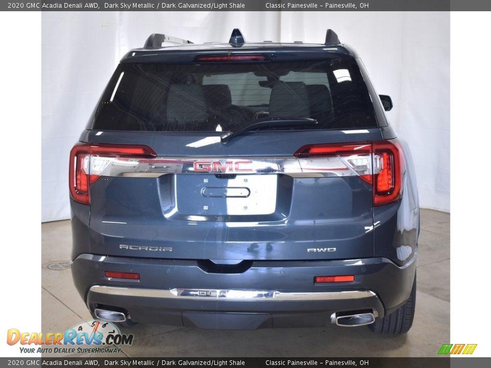 2020 GMC Acadia Denali AWD Dark Sky Metallic / Dark Galvanized/Light Shale Photo #3
