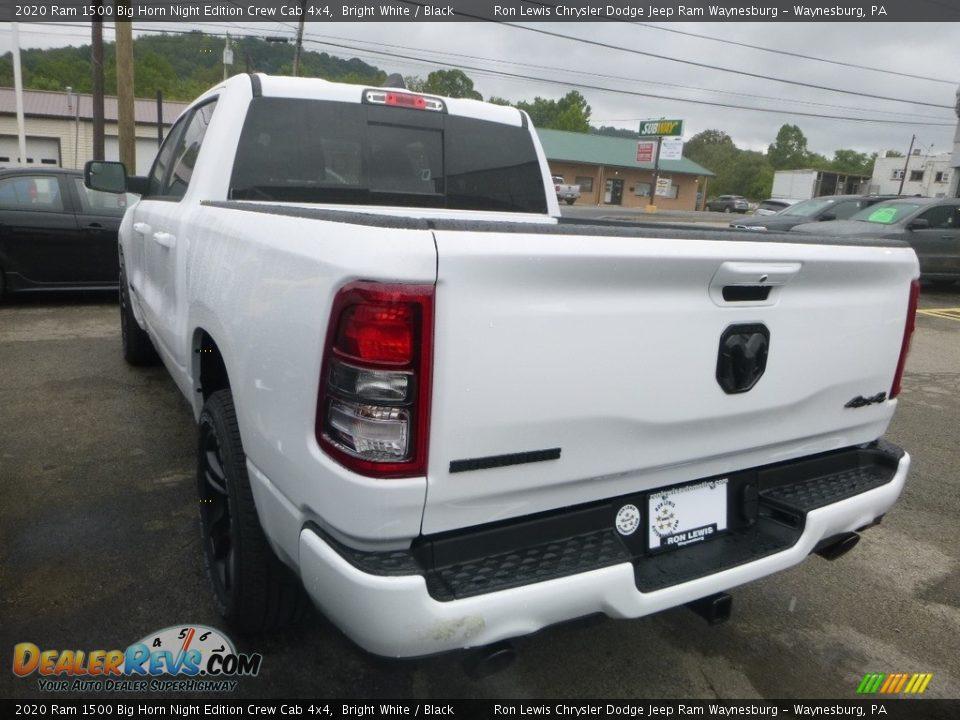 2020 Ram 1500 Big Horn Night Edition Crew Cab 4x4 Bright White / Black Photo #2