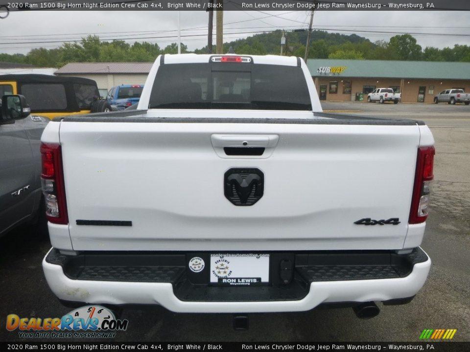 2020 Ram 1500 Big Horn Night Edition Crew Cab 4x4 Bright White / Black Photo #3