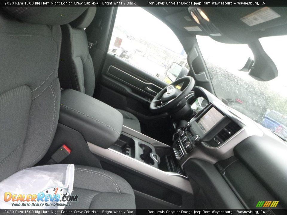2020 Ram 1500 Big Horn Night Edition Crew Cab 4x4 Bright White / Black Photo #9