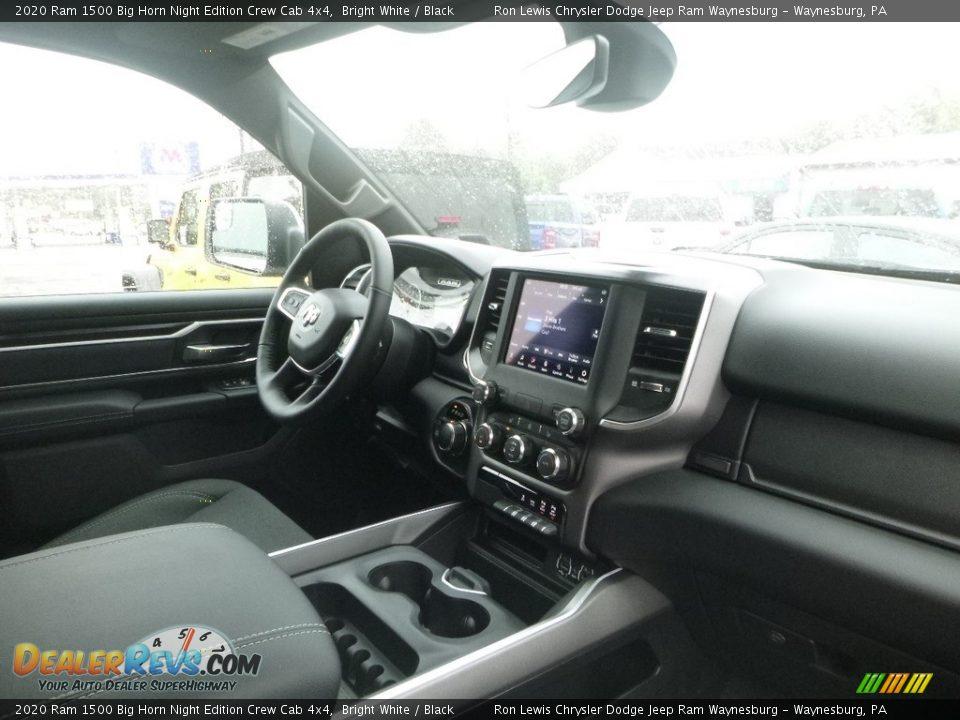 2020 Ram 1500 Big Horn Night Edition Crew Cab 4x4 Bright White / Black Photo #10