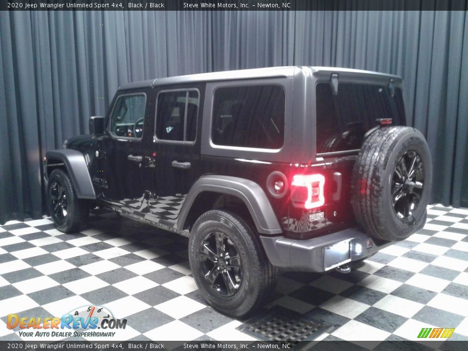 2020 Jeep Wrangler Unlimited Sport 4x4 Black / Black Photo #8