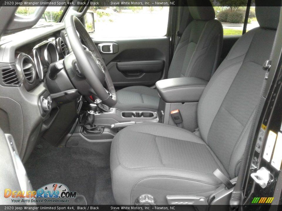 2020 Jeep Wrangler Unlimited Sport 4x4 Black / Black Photo #10