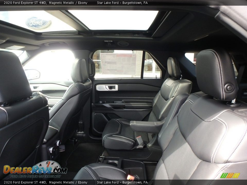 Rear Seat of 2020 Ford Explorer ST 4WD Photo #12