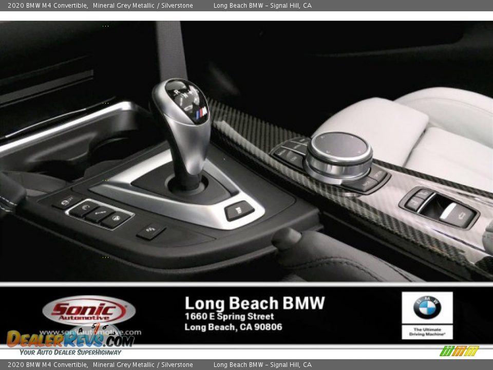 2020 BMW M4 Convertible Mineral Grey Metallic / Silverstone Photo #6