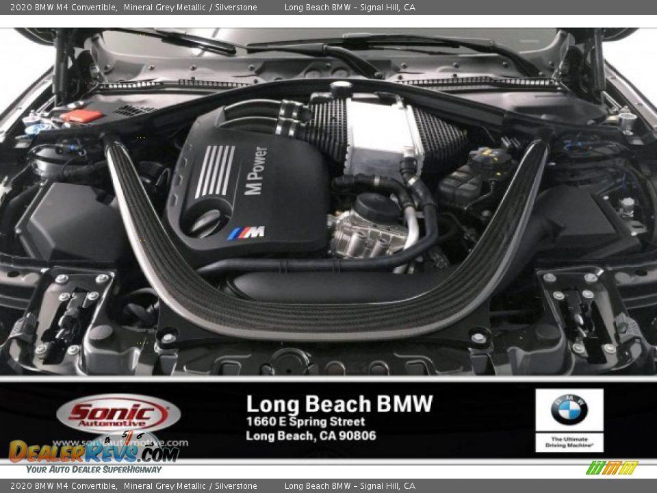 2020 BMW M4 Convertible Mineral Grey Metallic / Silverstone Photo #8