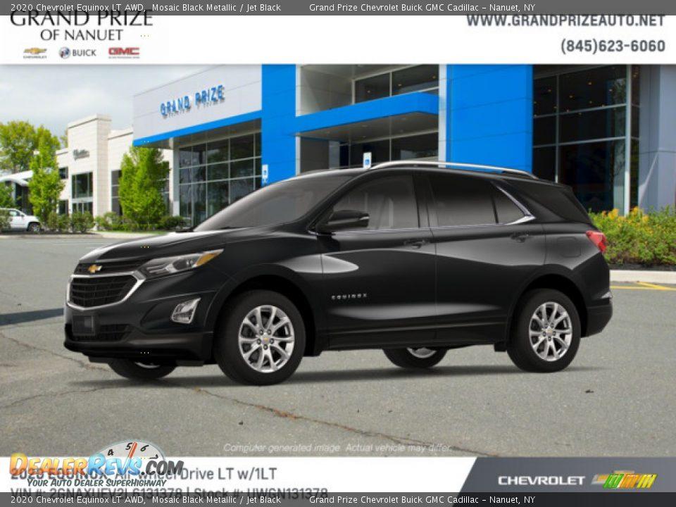 2020 Chevrolet Equinox LT AWD Mosaic Black Metallic / Jet Black Photo #2