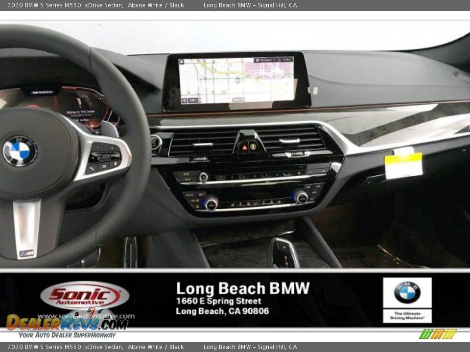 2020 BMW 5 Series M550i xDrive Sedan Alpine White / Black Photo #5