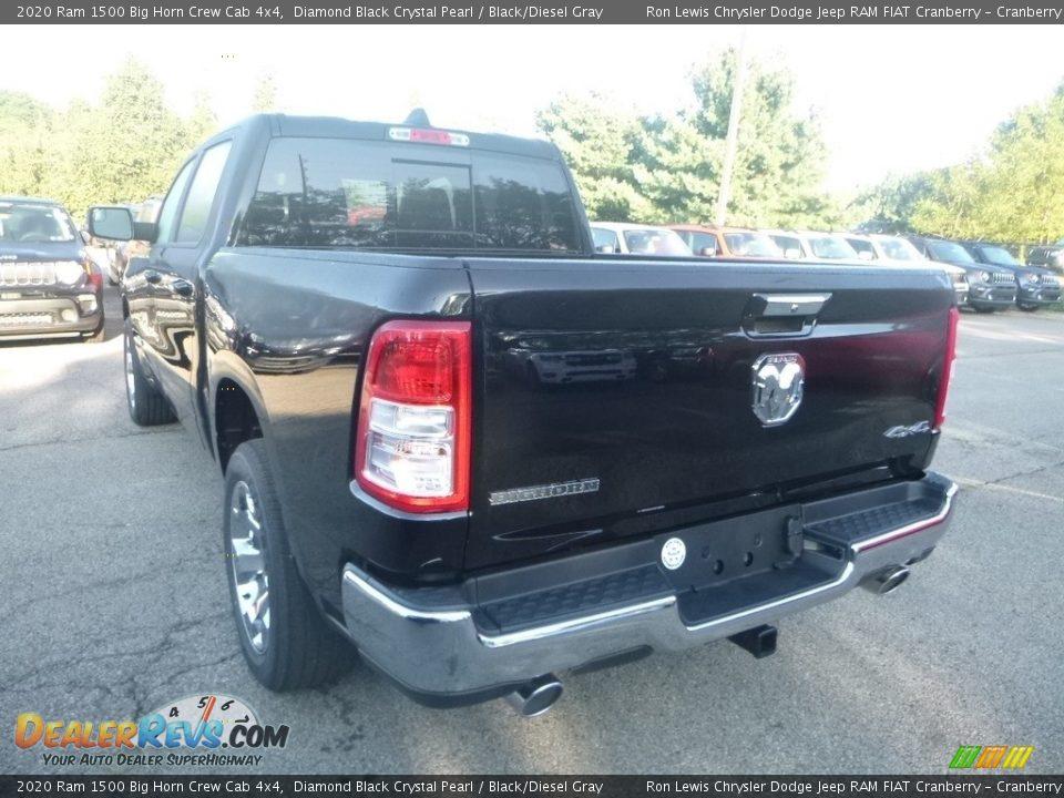 2020 Ram 1500 Big Horn Crew Cab 4x4 Diamond Black Crystal Pearl / Black/Diesel Gray Photo #3