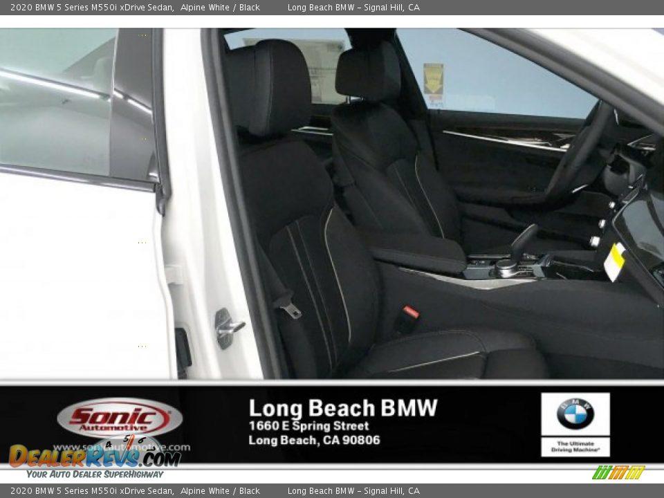 2020 BMW 5 Series M550i xDrive Sedan Alpine White / Black Photo #7